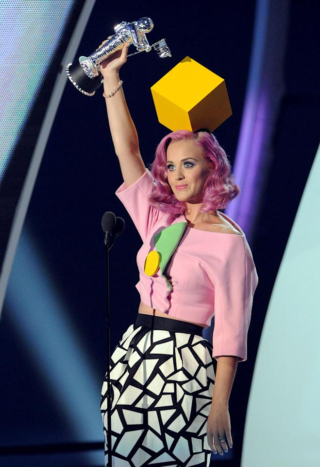 <p>Is Perry channeling an alternative Sims character or?? (Photo: Getty Images) </p>