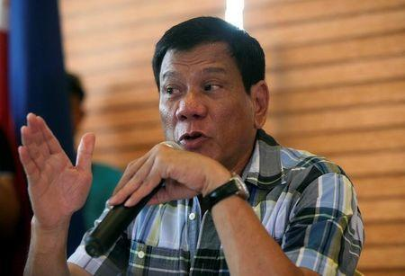 """President-elect Rodrigo """"Digong"""" Duterte speaks during a news conference in his hometown Davao City in southern Philippines, May 16, 2016. REUTERS/Stringer"""