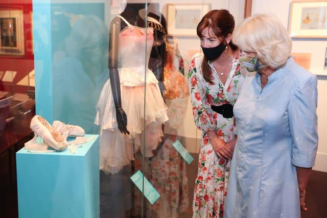 The Duchess of Cornwall visit to Royal Academy of Dance exhibition