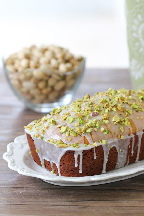 """<p>This nutty loaf is filled with freshly grounded pistachios and covered in a sweet glaze. </p><p><strong>Get the recipe at <a href=""""http://www.olgasflavorfactory.com/sweets/desserts/pistachio-loaf/"""" rel=""""nofollow noopener"""" target=""""_blank"""" data-ylk=""""slk:Olga's Flavor Factory"""" class=""""link rapid-noclick-resp"""">Olga's Flavor Factory</a>.</strong> </p>"""