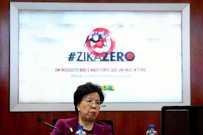 Margaret Chan, World Health Organization Director-General, speaks during a meeting with Brazilian ministers in Brasilia, on February 23, 2016 (AFP Photo/Evaristo Sa)