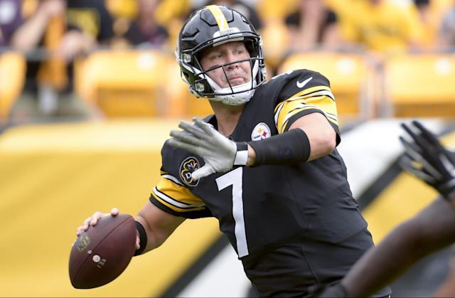 "<a class=""link rapid-noclick-resp"" href=""/nfl/players/6770/"" data-ylk=""slk:Ben Roethlisberger"">Ben Roethlisberger</a> threw a career-worst five interceptions Sunday (AP)"