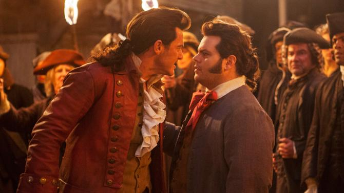 Luke Evans and Josh Gad in Disney's 'Beauty and the Beast'