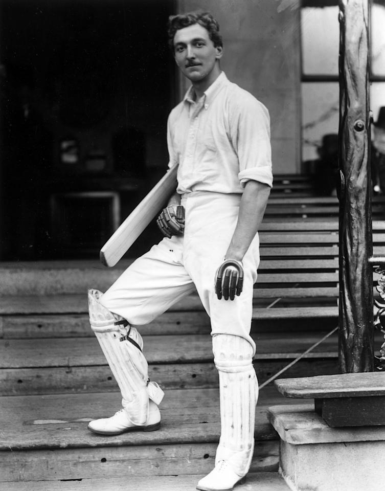 27th July 1903:  All round sportsman and cricketer Charles Burgess Fry (1872 - 1956), He represented England in athletics, cricket and soccer and also gained an Oxford blue in all three.  (Photo by Reinhold Thiele/Topical Press Agency/Getty Images)