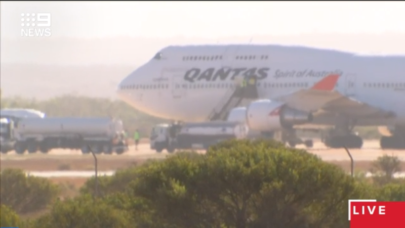A Qantas flight with almost 300 Australian on-board from Wuhan has arrived in Western Australia. Source: 9News