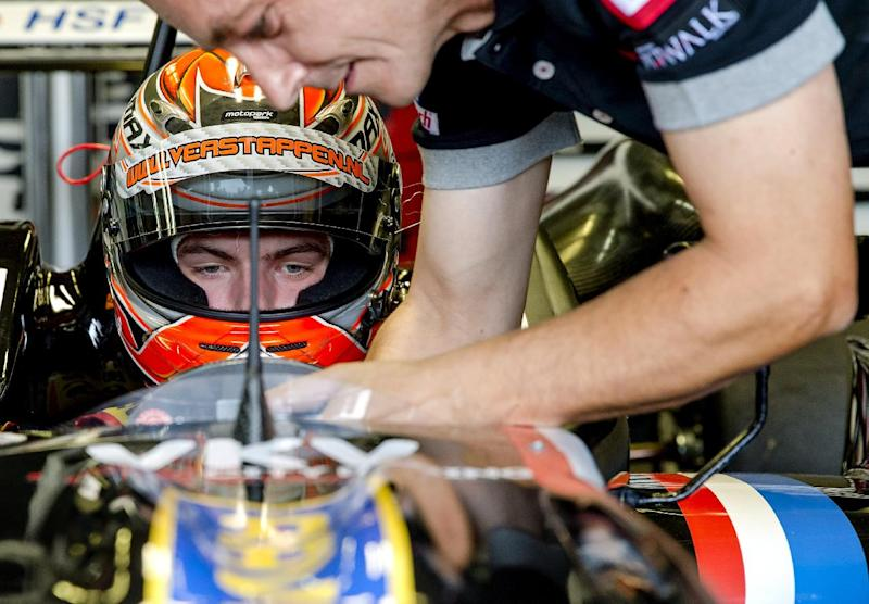Dutch driver Max Verstappen prepares ahead of the start of the Zandvoort Masters of Formula 3 in the Netherlands on July 6, 2014