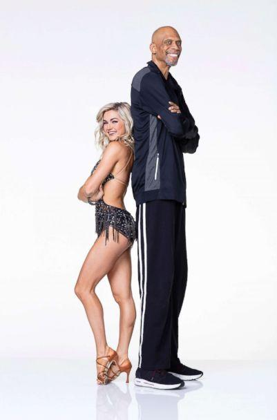 PHOTO: NBA legend Kareem Abdul-Jabbar is paired up with pro and reigning Mirror Ball champ Lindsay Arnold. (Craig Sjodin/ABC)