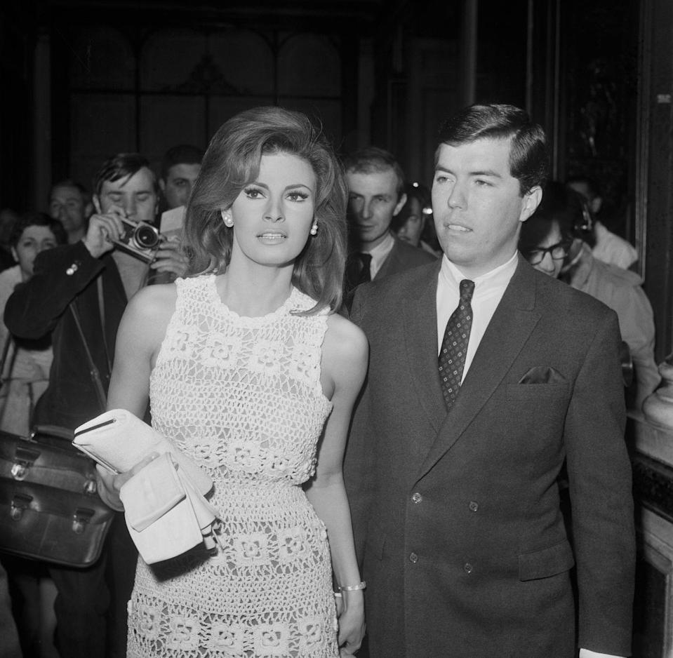 <p>Raquel Welch, an iconic actress during the 1960s and '70s, married Patrick Curtis, a film producer who promoted many of her movies, at Paris's City Hall on February 14. It was her second marriage. They divorced in 1972, and Welch went on to marry twice more.</p>