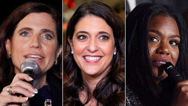 PHOTO: Women who won House races in 2020, from left, Republican Nancy Mace, Republican Stephanie Bice, and Democrat Cori Bush. (AP, Getty Images)