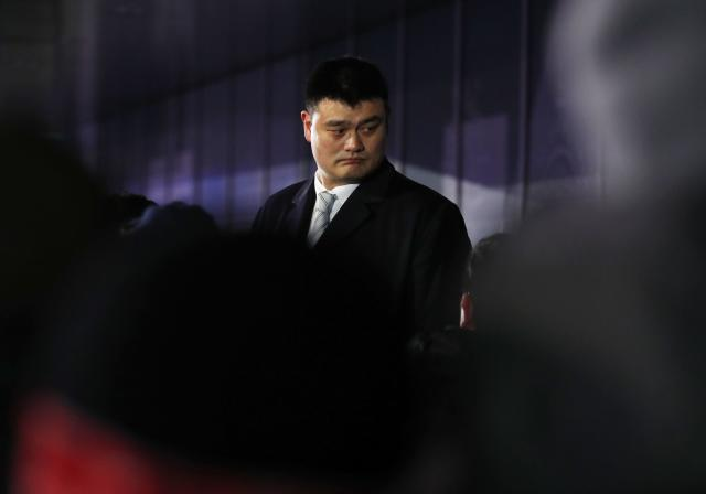 Pyeongchang 2018 Winter Olympics – Opening ceremony – Pyeongchang Olympic Stadium - Pyeongchang, South Korea – February 9, 2018 - Former NBA basketball player Yao Ming is seen during the opening ceremony. REUTERS/Phil Noble
