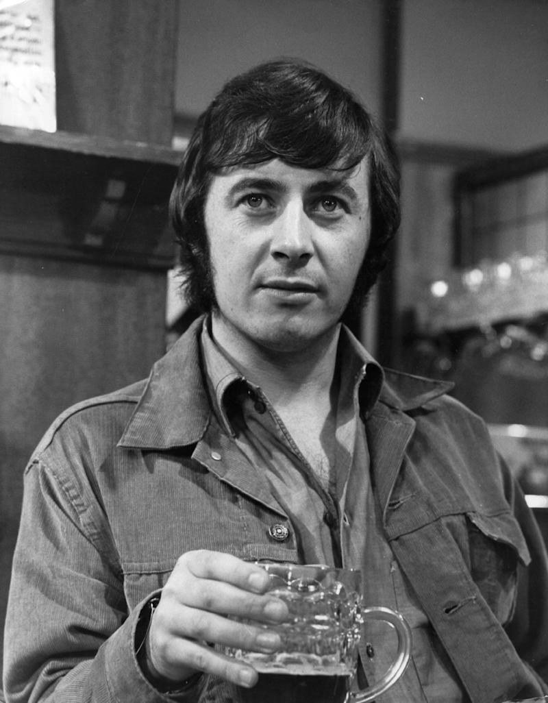 10th September 1970: Neville Buswell raises a pint as Ray Langton of the long-running British television soap 'Coronation Street', which celebrated 35 years on the air in 1995. (Photo by John Madden/Keystone/Getty Images)