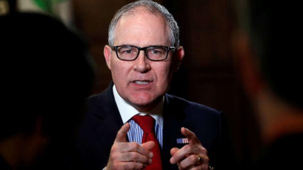 PHOTO: Environmental Protection Agency Administrator Scott Pruitt speaks during an interview with Reuters journalists in Washington, Jan. 9, 2018. (Kevin Lamarque/Reuters, FILE)