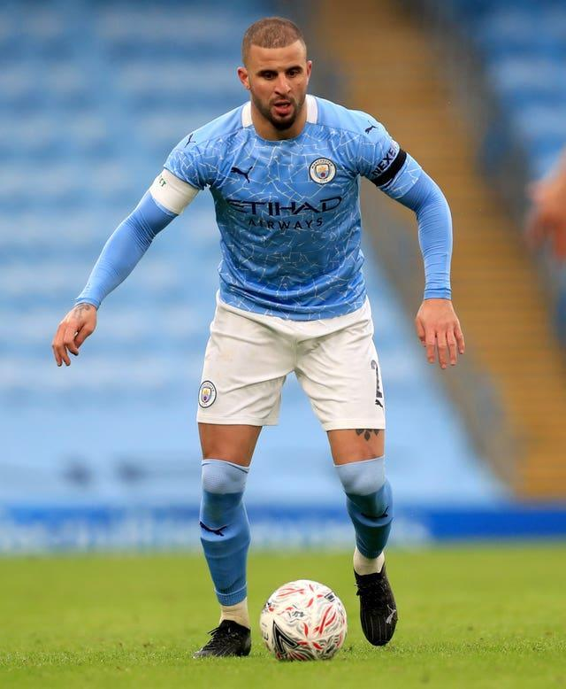 Kyle Walker is back in action after recovering from Covid-19