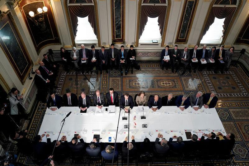 FILE PHOTO: U.S.-China trade delegations hold trade talks at the White House in Washington