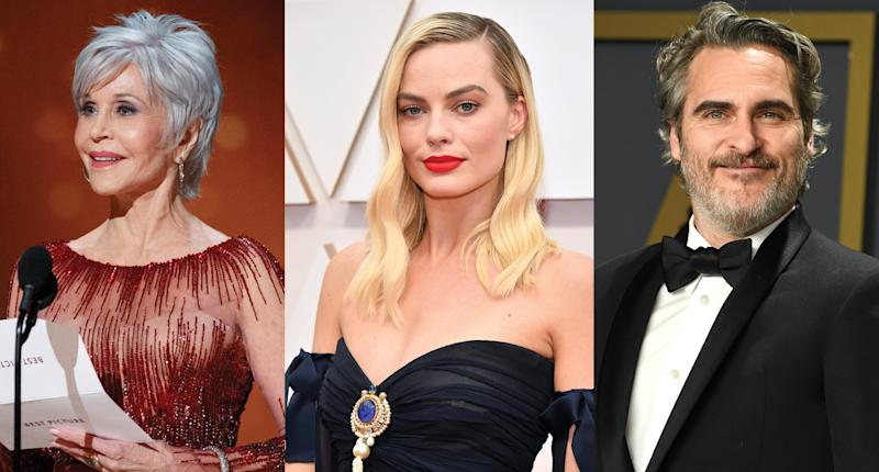 Jane Fonda, Margot Robbie and Joaquin Phoenix are among the stars who made sustainable fashion choices at the Oscars.