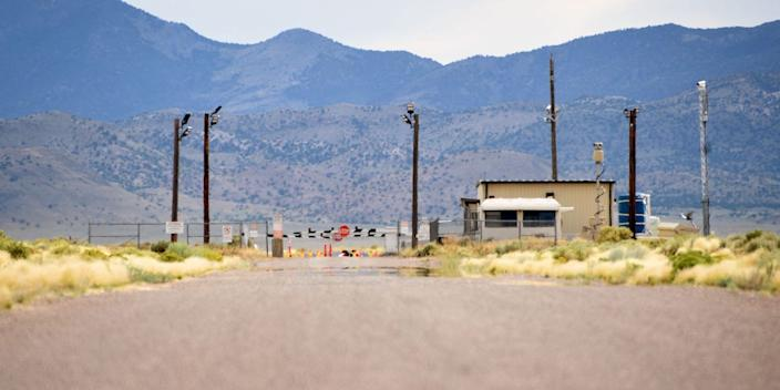 The 'Area 51' US military base in New Mexico.