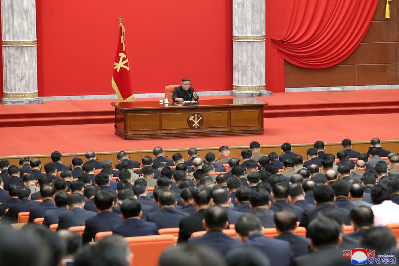 North Korean leader Kim Jong Un attends the 8th Congress of the Workers' Party in Pyongyang