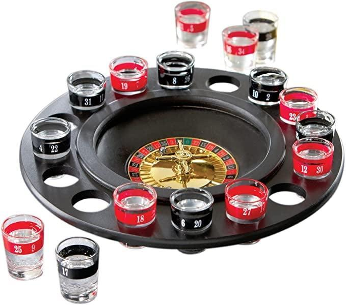 <p>This <span>Shot Glass Roulette</span> ($20) is a recipe for a fun night in.</p>
