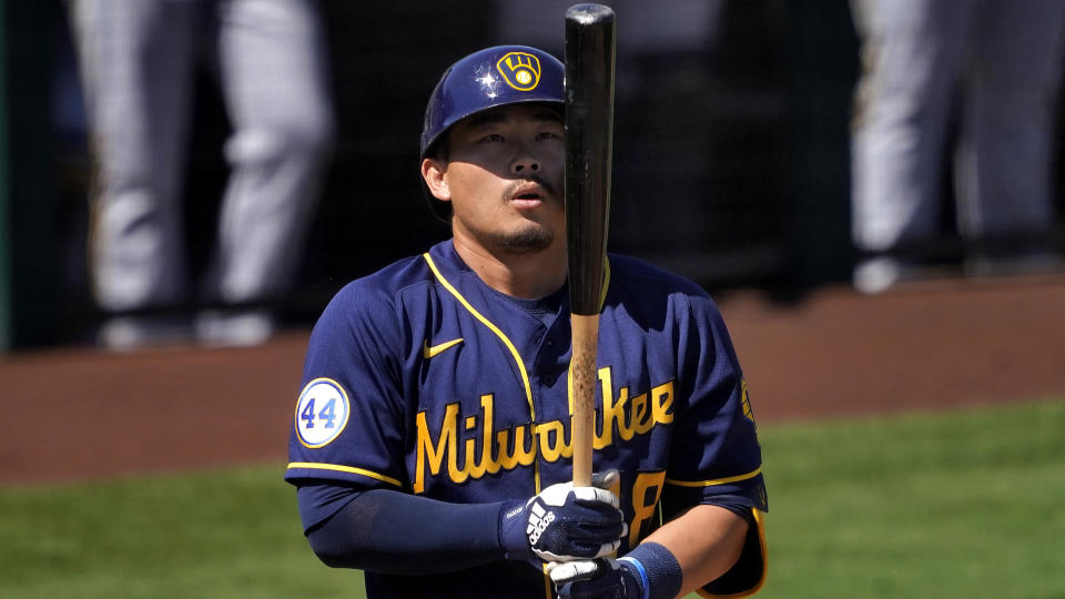 Milwaukee Brewers' Keston Hiura