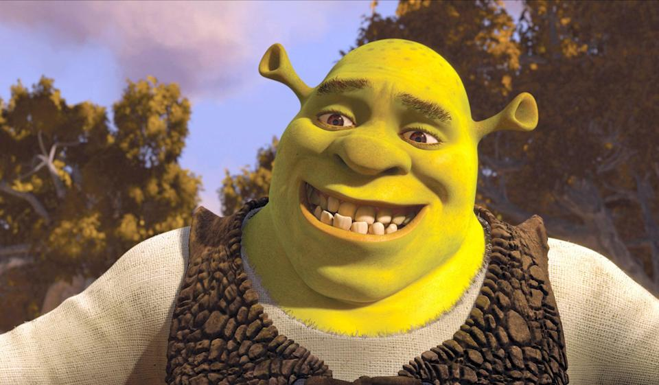 Picture of animated character Shrek smiling