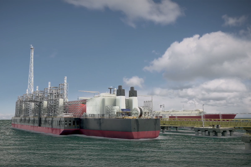 Artist's impression of Greater Tortue Ahmeyim gas project in west Africa (BP)