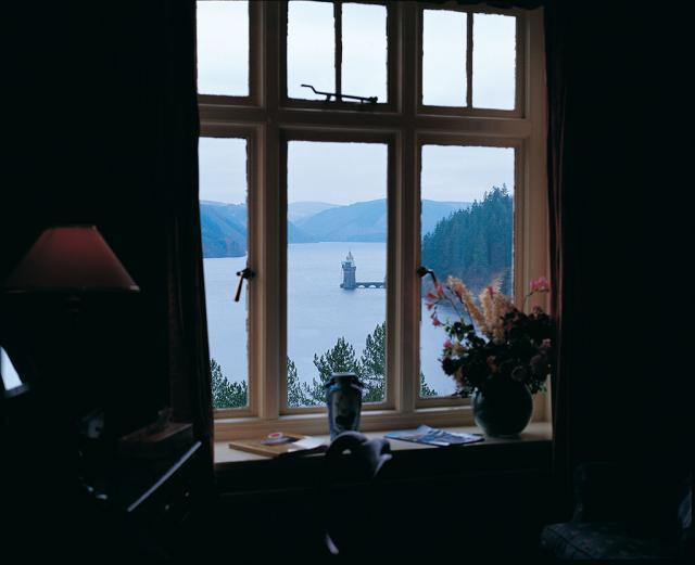 The Lake Vyrnwy Hotel and Spa offers a captivating view of the lake.