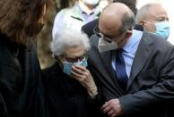 Mother of Lokman Slim, a Shi'ite publisher and activist, is pictured during a memorial service to pay tribute to him, one week after he was found dead in his car, in Beirut