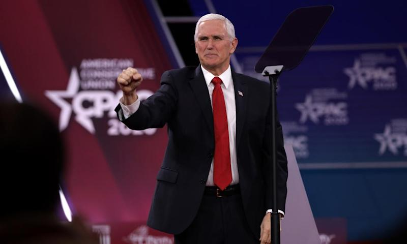 'It's going to take at least four more years to drain that swamp': Mike Pence at CPAC.