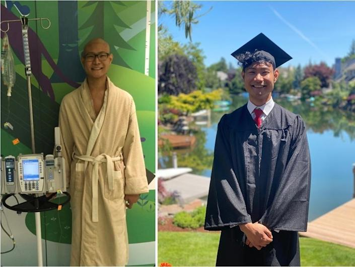 "Trey Tamaki graduated from the University of Washington this year. During his school years, he had to go through chemotherapy treatments. <p class=""copyright"">Trey Tamaki</p>"