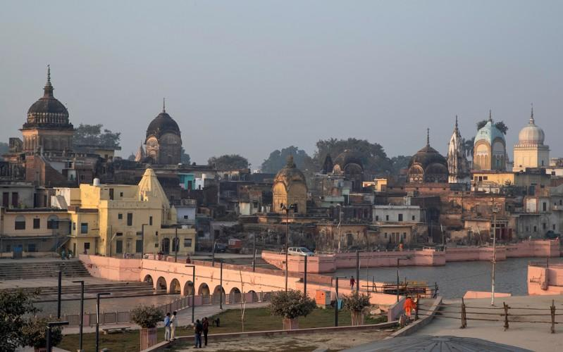 A general view of Ayodhya is seen after Supreme Court's verdict on a disputed religious site