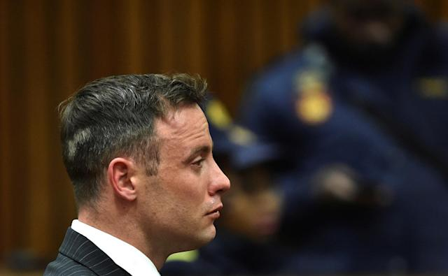 Former Paralympian Oscar Pistorius attends sentencing for the murder of Reeva Steenkamp at the Pretoria High Court, South Africa June 13, 2016. REUTERS/Phill Magakoe/Pool