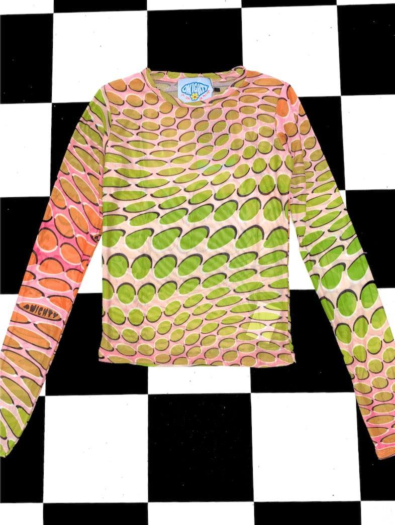 <p><span>Sweet Lord O'Mighty! The Warp Mesh Top in Gradient</span> ($55)</p>