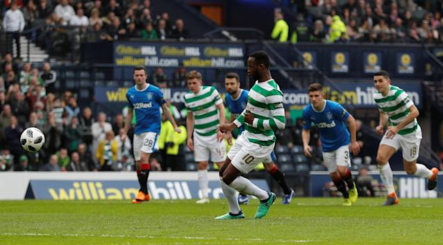 Soccer Football - Scottish Cup Semi Final - Celtic vs Rangers - Hampden Park, Glasgow, Britain - April 15, 2018 Celtic's Moussa Dembele scores their third goal from the penalty spot Action Images via Reuters/Lee Smith