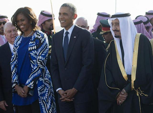 Michelle and Barack Obama in Saudi Arabia. (Photo: Getty Images)