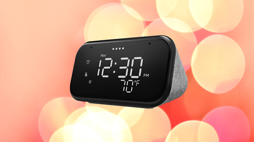 Save more than half on this Lenovo Smart Clock Essential. (Photo: Walmart)
