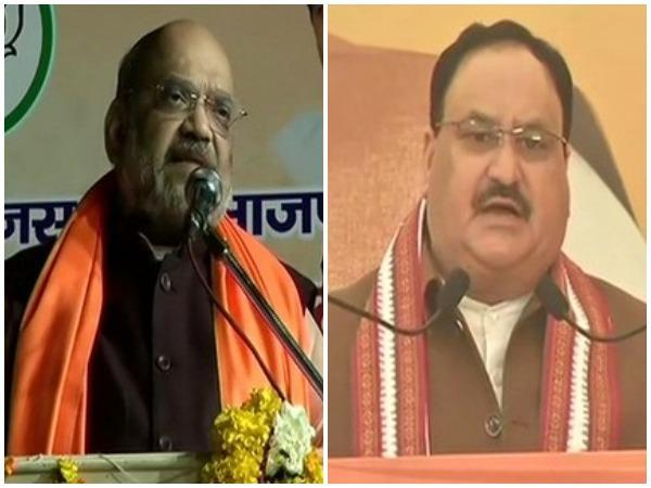 Home Minister Amit Shah and BJP national president JP Nadda (File photo)