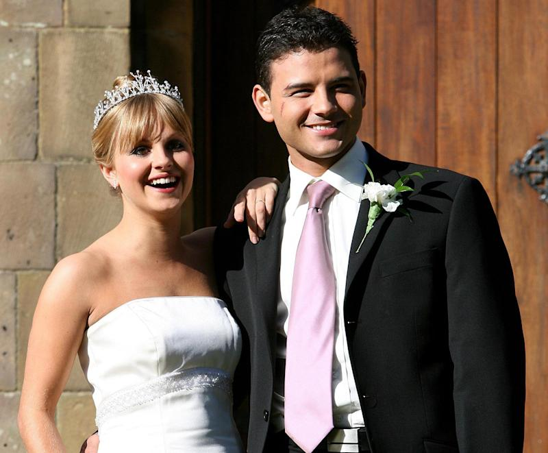The Coronation Street wedding of Sarah Platt (Tina O'Brien) and Jason Grimshaw (Ryan Thomas) at St Marys Church, Prestwich, Manchester.