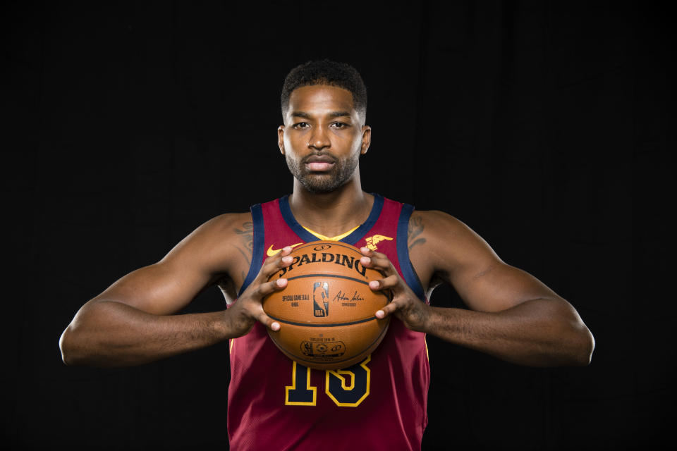 Tristan Thompson wants you to know that he and the Cavaliers are super serious, you guys. (Getty)