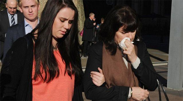 Stuart's sister Madeleine Kelly wept as she farewelled her youngest brother, while her mother asked for the community's support. Source: AAP