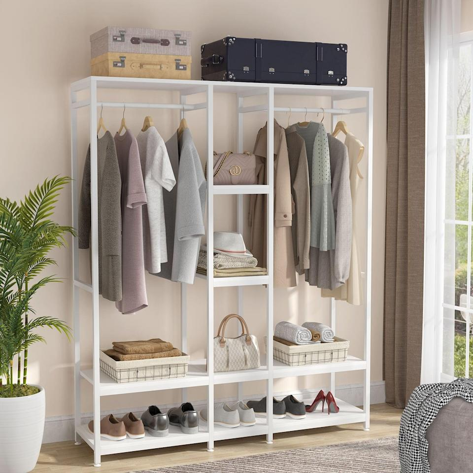 "<p>Bring this useful <span>Rebrilliant Armendariz 59"" W Closet System Starter Kit</span> ($270) to your minimalist bedroom.</p>"