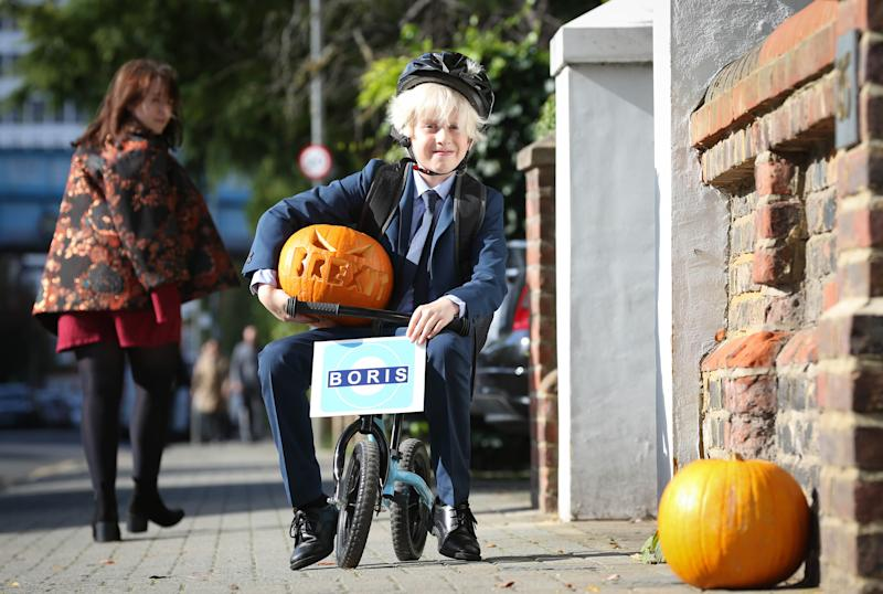 We can expect to see a number of mini Boris Johnsons trick or treating this year [Photo: Matt Alexander/PA Images]