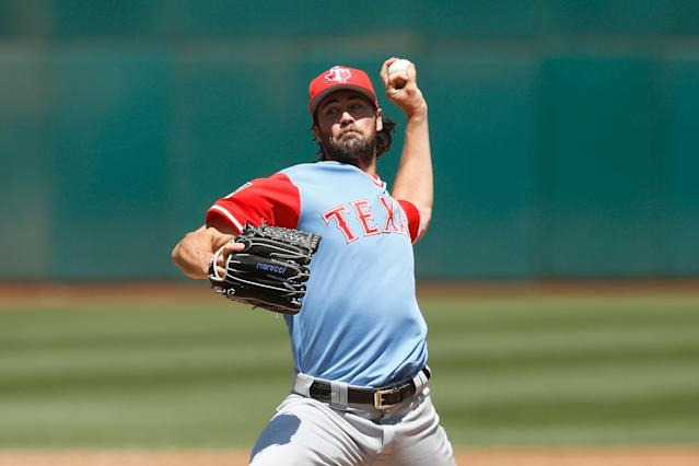 Cole Hamels needs to produce if the Rangers are going to move up in the standings. (Photo by Lachlan Cunningham/Getty Images)