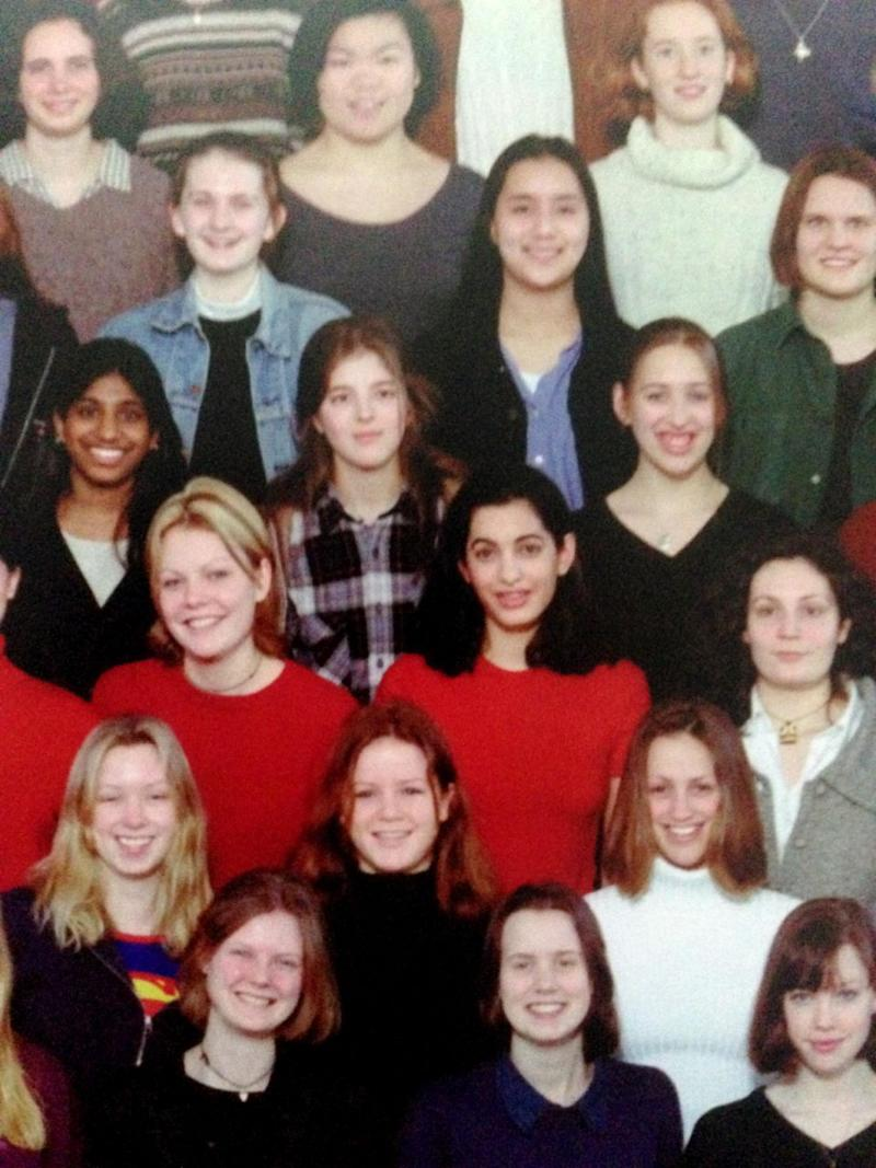 These are the first ever pictures to come to light of Amal's school days at the exclusive Dr Challoner's High School in Amersham, Buckinghamshire. Source: IMP Features/Chris White