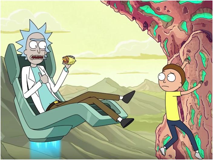 """""""Rick and Morty"""" was created by Justin Roiland and Dan Harmon. <p class=""""copyright"""">Warner Bros. Television Distribution</p>"""