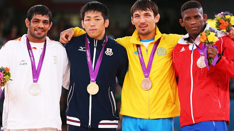 Sushil Kumar, pictured here after winning silver at the 2012 Olympics.