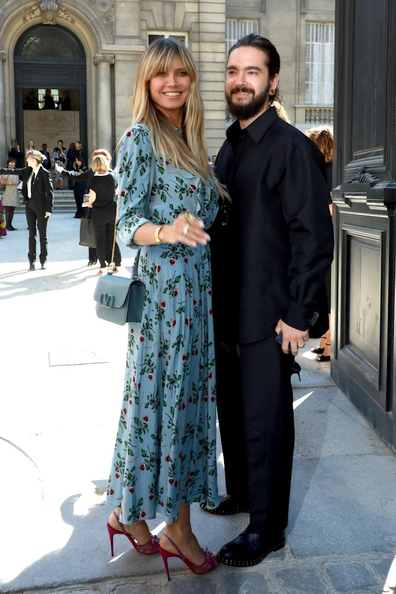 Heidy Klum and Tom Kaulitz attend the Valentino Haute Couture Fall/Winter 2019 2020 show as part of Paris Fashion Week on July 03, 2019 in Paris, France.