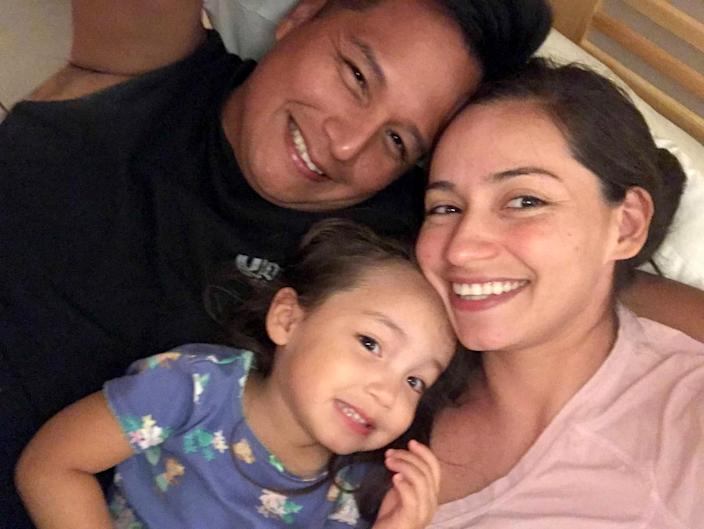 Image: Juan Ordonez, seen here with his daughter, Mia, and his wife, Diana, died of the coronavirus on April 11, 2020. (Courtesy of Diana Ordonez)