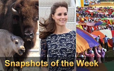 Snapshots - This weekly collection includes eye-catching images from around the world.