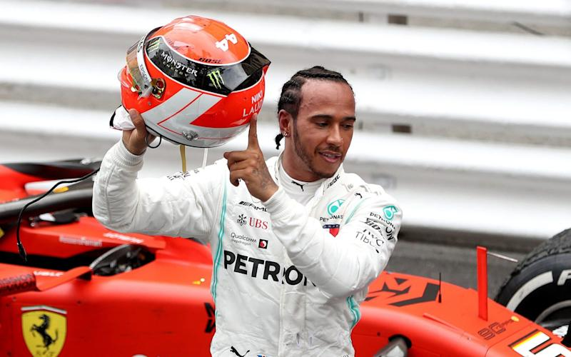 Lewis Hamilton took his fourth win of the season to extend his championship lead over Valtteri Bottas - PA