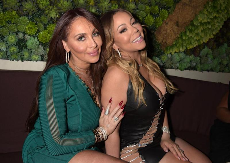 Mariah Carey, seen here with Stella Bulochnikov in 2017, has been accused by her former manager of sexual harassment. Source: Getty